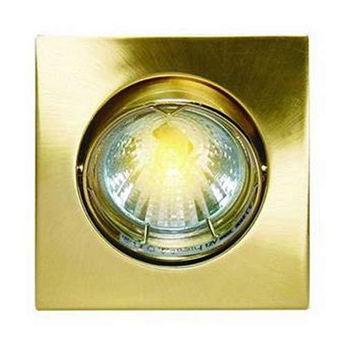 Support de spot encastrable COMBISPOT, format carré, orientable, fintion satin brass