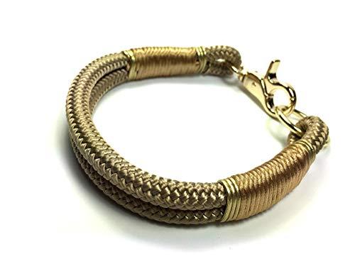 Hundehalsband, Hundeleine oder Set aus Tau, Tauhalsband, für kleine und große Hunde, goldbraun/beigebraun/tan