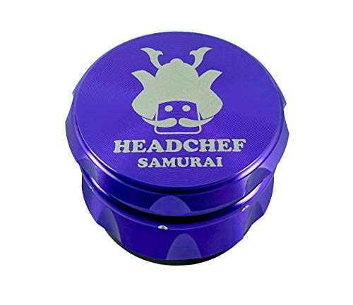 Headchef Samurai High Quality Metal Herb Grinder with Sifter Scraper – 4 Piece Grinder, 55mm,...