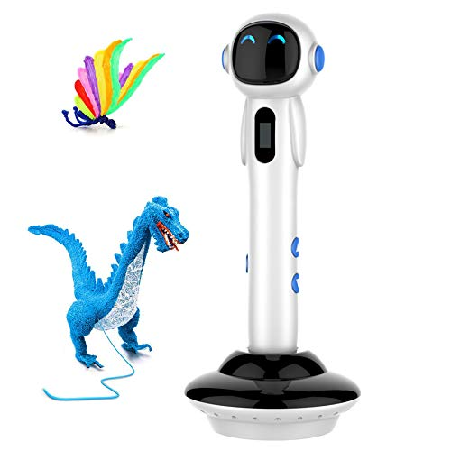 Mainbon Pluma 3D Pluma de impresión 3D, Juego de 12 Colores y Pantalla LCD, lápiz 3D Compatible con Herramienta de Dibujo de Huellas de Filamento PLA/ABS, Cable USB de 120cm,para Niños y Adulto