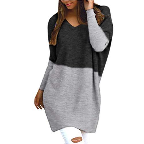 Damenpullover Langarm Elegant Damen Tops Winter Sweatshirt Sweatshirt Loser Strick Mit VAusschnitt A. Oberteile Herbst Sexy Bluse Frauen