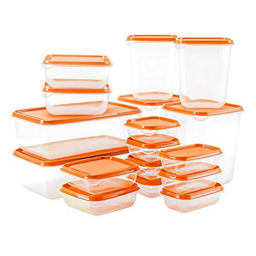 chaobai Set di Contenitori per Alimenti Impilabile 17 Pezzi Contenitori Alimentari Adatto per lavastoviglie, Congelatore, Microonde