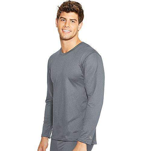 Duofold Hombres de Mediados de Peso Varitherm tripulación Cuello térmico Camiseta - Gris -