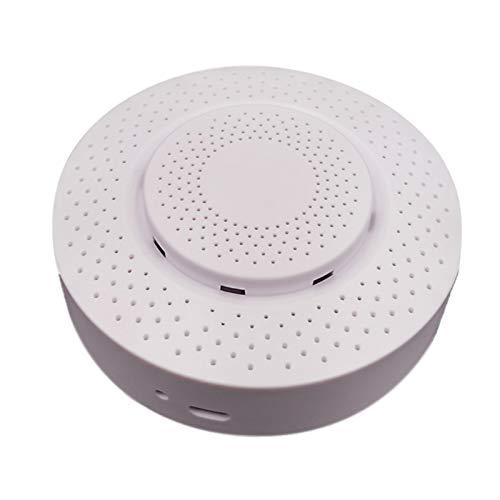 Detector inteligente de calidad del aire 5 en 1, sensor de humedad y temperatura, formaldehído en tiempo real, aplicación remota, dispositivo de alarma automático, necesidad de hub zigbee