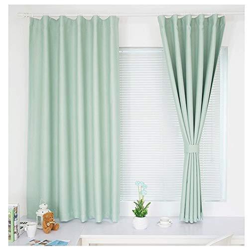 Gordijnen MYKK Voor raamgordijnen voor woon- / slaapkamer Gordijnen voor keuken Balkon 1 PC 250W 250H Lichtgroen