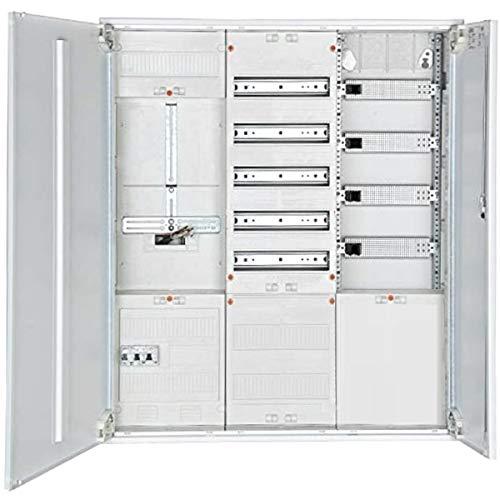Komplett-Zählerschrank für Einfamilienhaus, 1x Zählerkreuz (3-Punkt), 1x Verteiler, 1x Multimediafeld mit APS, SLS 63A
