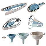 PHAREGE kitchen Gadgets and Tools Set,3 Funnels,3 Cooking Tongs,3 Ice Cream Scoops,3 Peelers,3 Melon Ballers