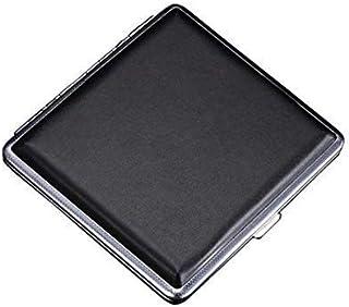 حافظة سجائر معدنية من الجلد تسع 20 سيجارة، حامل التخزين، حافظة تخزين سوداء