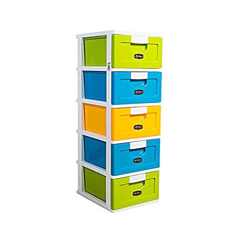 Bins DE Almacenamiento, Caja De Contenedor De Tipo De Cajón De Plástico Robusto Liviano. (Size : Five Layers)