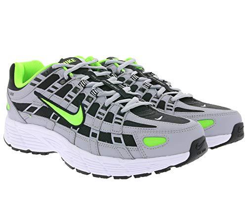 Nike P-6000 Wolf Grey Electric Green Black - Zapatillas Deportivas, Color Gris, Talla 42 EU