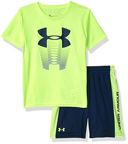 Under Armour Boys' Toddler Ua Muscle Tank and Short Set, Xray s20, 4T