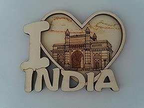 White Artisans Gateway of India Wood Carved Magnet