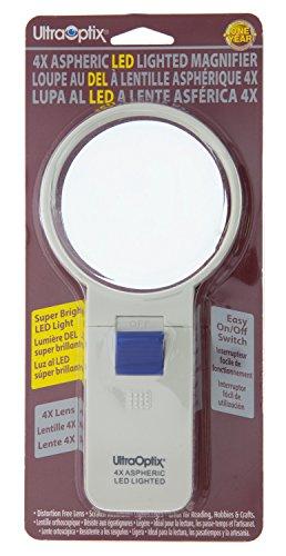 "Image of UltraOptix Sv-3LPLED 3"" Round LED Lighted Magnifying Glass"
