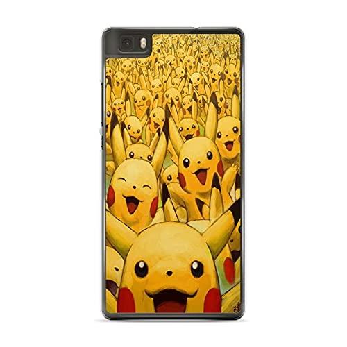 Schutzhülle für Huawei P20 Lite Pokemon Go Team Pokedex Pikachu Manga Tortank Game Boy Color Salameche Valor Mystic Instinct Case + Eingabestift + Reinigungstuch Display 35