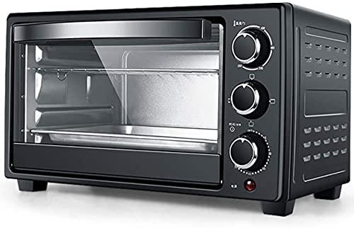 23 l Mini horno, horno eléctrico 1300 w Temperatura ajustable de 70-250 ℃ y temporizador de 60 minutos con 3 funciones de calefacción para la parrilla de cocción para hornear