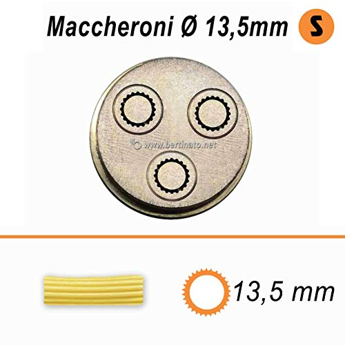 Trafila in bronzo per Maccheroni Rigatoni da 13,5mm per macchina pasta fresca professionale VIP/2 2,8kg e VIP4 4kg e compatibile FIMAR MPF 2,5 e MPF 4