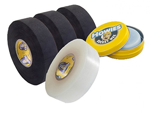 3x Schlägertape Profi Cloth 38mm, 1x Shine Tape, 1x Hockey Wachs