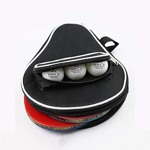 AZXAZ Ping Pong Paddle - Funda impermeable para raquetas de ping pong (cierre de cremallera), negro