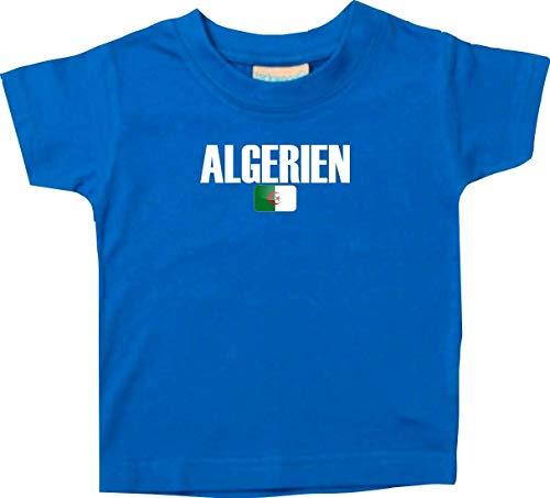 Shirtstown Bebé Niños Camiseta Fútbol Camiseta de País Argelia - Royal, 6-12Monate