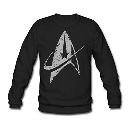 Star Trek Discovery Delta Commando Argent Sweat-Shirt Unisex, M, Noir