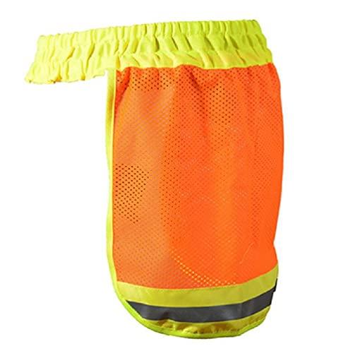 HOTPINK1 Casco duro de seguridad casco cuello cubierta reflectante de alta visibilidad malla protector solar protector de malla