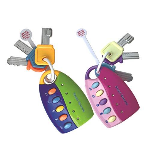 TOYANDONA 2 Pcs Bébé Autoschlüssel Spielzeug Musikspielzeug Musikalischer mit Ton Und Licht Frühes Lernspielzeug pour Bébé 6 9 12 Monaten