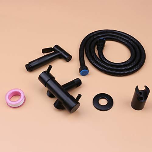 Best Price FZHLR 304 Stainless Steel Black Bidets Bathroom Hand Shower Bidet Toilet Sprayer Hygienic...