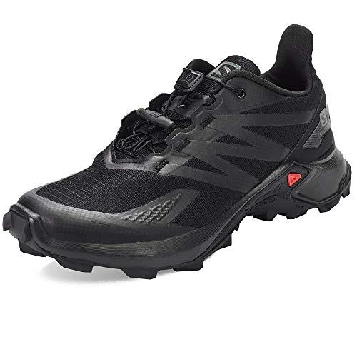 SALOMON Calzado Bajo Supercross Blast, Zapatillas de Trail Running Hombre, Black/Blac, 42 2/3 EU