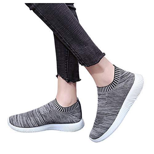 Mujer Zapato Malla Tejida Zapatillas Transpirable Ligero Casual,Zapatillas de Running para Mujer Zapatillas de Deporte Corrientes de Suave Respirable Al Aire Libre de Trail Verano Slip-on