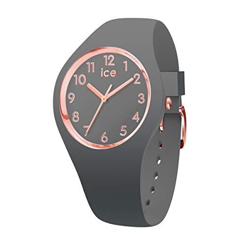 Ice-Watch - ICE glam colour Grey - Szary zegarek damski z silikonowym paskiem - 015332 (Small)