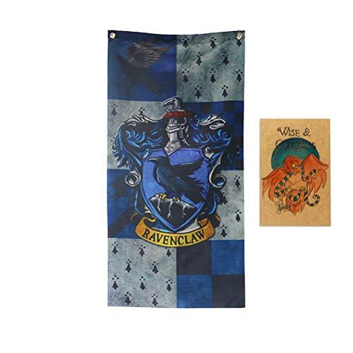 ASFAOK New College Flagge Harry Potter Banner, [101X48CM], Vorräte Ravenclaw Plakat für Mädchen Geschenke-Geburtstags-Party-Dekor