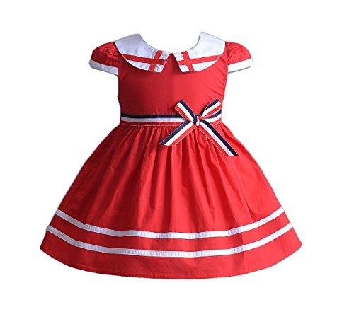 Cinda bébé Filles Coton été Robe de Cocktail 3 Couleurs Rouge 3-6 Mois
