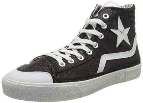 Replay Damen Ever W - WELSEY Hohe Sneaker, Schwarz (Black 3), 40 EU
