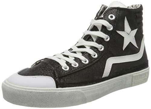 Replay Damen Ever W - WELSEY Hohe Sneaker, Schwarz (Black 3), 38 EU