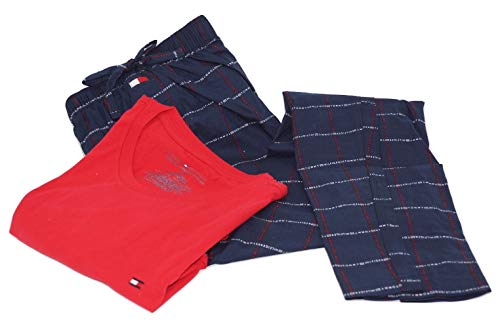 Tommy Hilfiger Herren Zweiteiliger Schlafanzug Pyjama Set, Small
