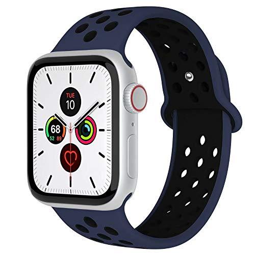 Fengyiyuda Kompatibel mit Apple Watch Armband 38mm 40mm 42mm 44mm, Weiche Silikon Sport Ersatz Armbänder für IWatch Series5 Series4 Series3 Series2 Series1