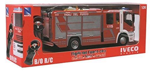 NewRay 87933 - Radiocomando Iveco Stralis Vigili del Fuoco, Scala1:24