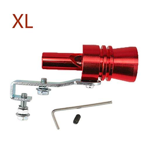 TRUUA Auto-Motorrad-Auspuff-Rohr-Pfeife 12cm Länge Universal-Abblaseventil Turbo Sound-Whistle - XL