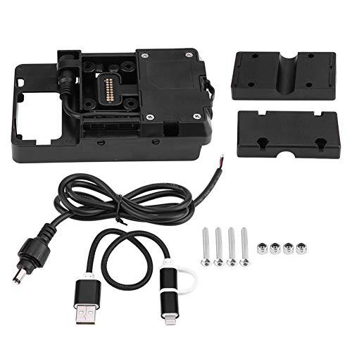 Qiilu Motorfiets Gsm-houder, Motorfiets USB-oplader Gsm-houder Standbeugel voor R1200GS LC & Adventure 2014-2017