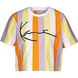 Karl Kani Damen T-Shirts Kk Signature Stripe Crop Wide weiß XS