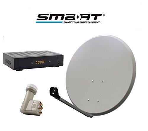 Smart DA1-80QSE SAT-installatie met ontvanger, aantal deelnemers 80 cm