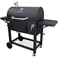 Dyna-Glo 60 Inch Barrel Charcoal Grill with Side Shelves