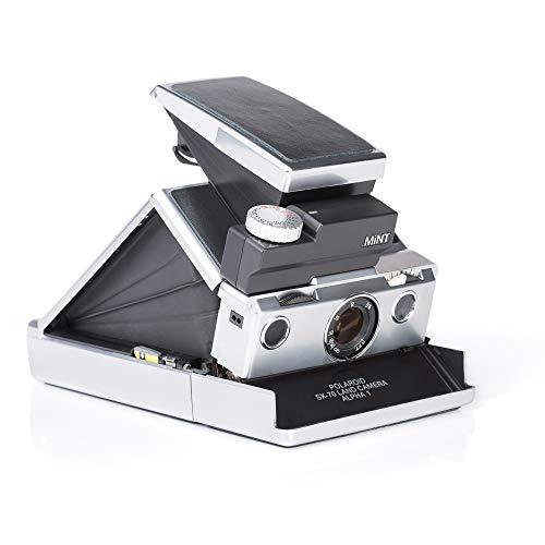 MiNT SLR670-s Classic Sofortbildfilmkamera für Polaroid SX-70 und 600 Filme, Silbergehäuse mit Schwarzem Leder