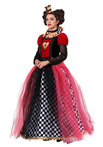 Plus Size Ravishing Queen of Hearts Costume for Women 4X Black