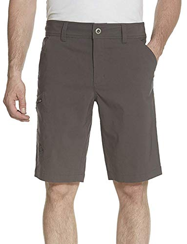 Gerry Mens Stretch Cargo 5 Pocket Shorts Venture Flat Front Woven Hiking Shorts for Men (36, Slate)