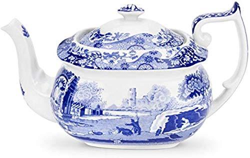 Spode Blue Italian Seconds Teapot 1.1 Litres