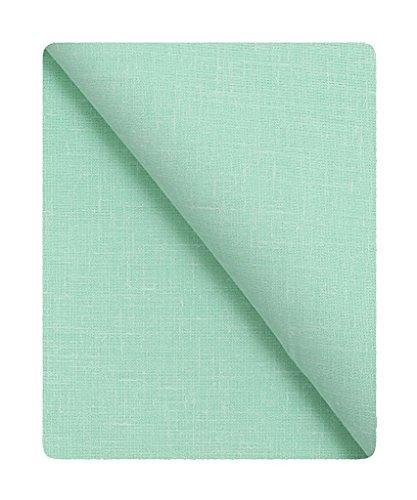 KUNDAN SULZ GWALIOR Men's Linen Blended Cotton Unstitched 1.6 m Shirt Piece (Rama Green, Free Size)