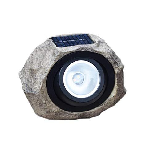 YepYes Stein Solarlampe führte Solar Harz Laterne Rasen-Licht-Rock-Spotlight wasserdichte Simulation Stein-Lampe für Garten Außen