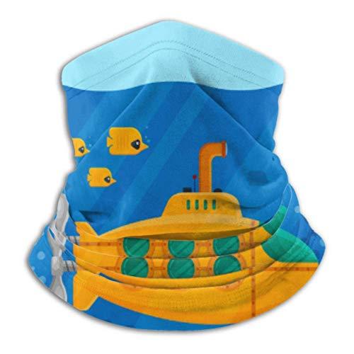 Linger In Gelbes U-Boot Periskop Unterwasserkonzept Marine Halswärmer Hals Gamasche Sturmhauben Gesichtsdekorationen Bandana Kopfbedeckung