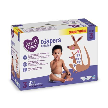 Branded Parent's Choice Diapers, Size 3, 210 Diapers , - Branded Diapers with fast delivery (Soft and Comfortable for Babies)